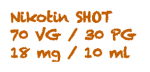 AKTION E-Liquid SHOT Nikotin Shot 18MG/10 ml 70 VG/30 PG -