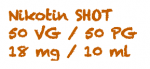 AKTION E-Liquid SHOT Nikotin Shot 18MG/10 ml 50 VG/50 PG